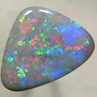 SOLID SEMI BLACK OPAL Beautiful and rare red - blue fire combo with continual sparkle. with VIDEO