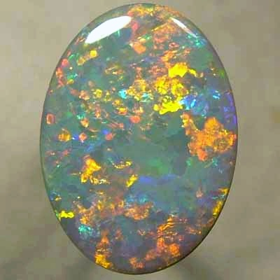 SOLID SEMI BLACK OPAL Beautiful Flag Harlequin pattern with interlocking colour patches. Top quality opal. With VIDEO