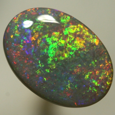 SOLID SEMI BLACK OPAL Neon golden fire in rolling flashes SEE VIDEO