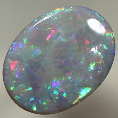 SOLID SEMI BLACK OPAL Rolling flashes of bright fire