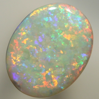 SOLID SEMI BLACK OPAL Floral Harlequin pattern of bright fire. SEE VIDEO