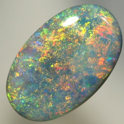 SOLID SEMI BLACK OPAL Rose gold fire over turquoise blue SEE VIDEO