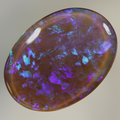 SOLID BLACK CRYSTAL OPAL Bright turquoise and purple in 3D SEE VIDEO