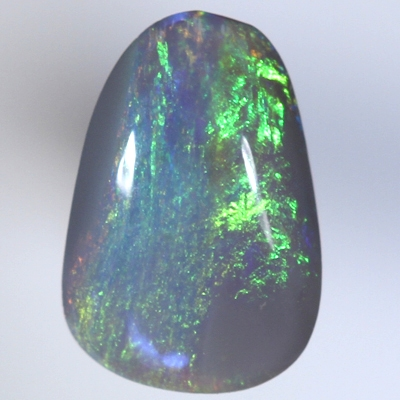 SOLID SEMI BLACK OPAL Bright sparkling orange and green , high dome