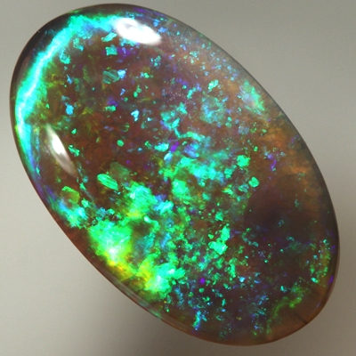 SOLID SEMI BLACK OPAL Neon greens throughout in a 3D pattern SEE VIDEO