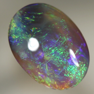SOLID BLACK CRYSTAL OPAL Loaded with bright, strong colours