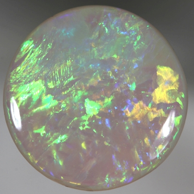 SOLID SEMI BLACK OPAL Neon bright green, orange and yellow gold. SEE VIDEO