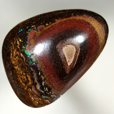 SOLID BOULDER OPAL Large 11 carats. Yowah nut with sparkling green