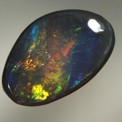 SOLID BLACK OPAL Golden fire, burning bright and rich