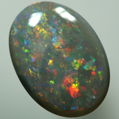 SOLID SEMI BLACK OPAL Sparkling red and orange
