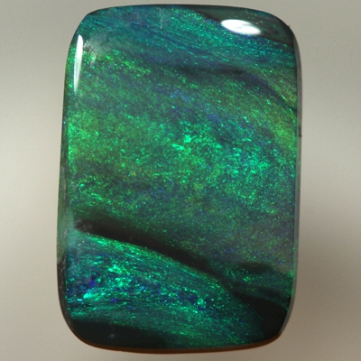 SOLID BLACK OPAL Beautiful Moss pattern with bands of Black opal