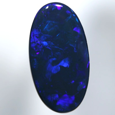 SOLID BLACK OPAL Rich royal blue electric fire. With VIDEO