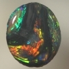 SOLID BLACK OPAL Unusual picture pattern
