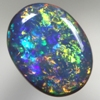 SOLID BLACK OPAL Very bright fire in a Floral Harlequin pattern SEE VIDEO