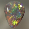 SOLID CRYSTAL OPAL Bright multicolours in a 3D pattern
