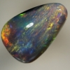 SOLID BLACK OPAL Bright orange and yellow