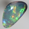 SOLID SEMI BLACK OPAL Very bright red, orange green and blue