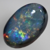 SOLID BLACK OPAL Bright mutlicolours