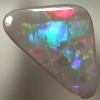 SOLID SEMI BLACK OPAL Large rolling flashes of bright fire