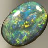 SOLID BLACK OPAL Bright golden fire shows in all directions