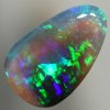 SOLID CRYSTAL OPAL Rolling flash of very bright strong green