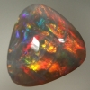 SOLID BLACK OPAL Bright fire in a 3D pattern