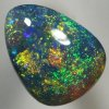 SOLID BLACK OPAL Strong and bright orange copper, green and blue. Pinfire pattern. SEE VIDEO