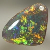 SOLID BLACK OPAL Sparkling gem fire, Floral Harlequin pattern. SEE VIDEO