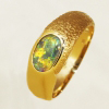 Custom Made 14k Yellow Gold Ring with a BLACK OPAL Sparkling bright red and orange over green