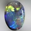 SOLID BLACK OPAL Bright neon golden gold and neon turquoise, rare combinaton of colours SEE VIDEO